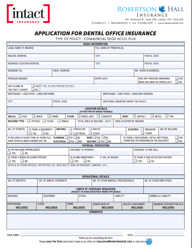 Easy Insurance Application