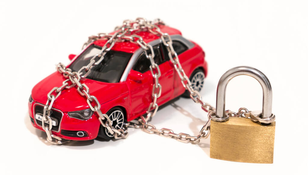 car lock and chain