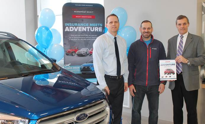 Robertson Hall Insurance client wins a 2018 Ford Escape in Select Sweepstakes