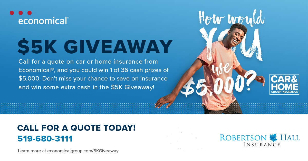 Economical Insurance $5000 giveaway